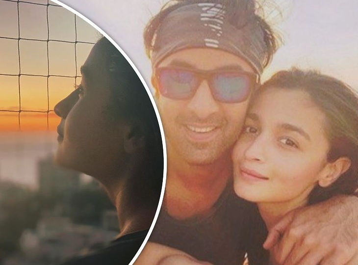 Alia And Ranbir Kapoor Enjoying The Sunset