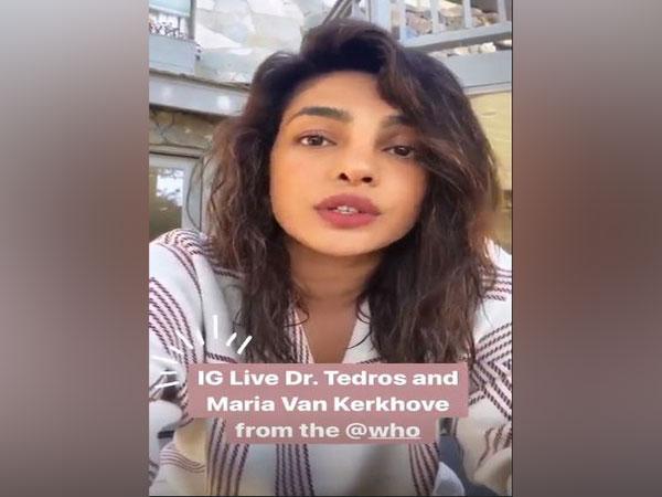 Priyanka Chopra Spreading Awareness For COVID 19