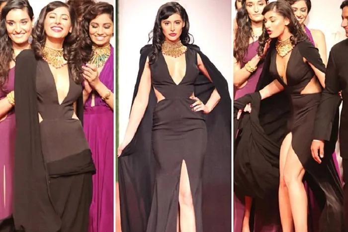 Nargis Fakhri wardrobe malfunction