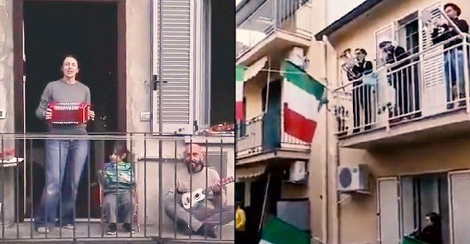 Italy people sings songs