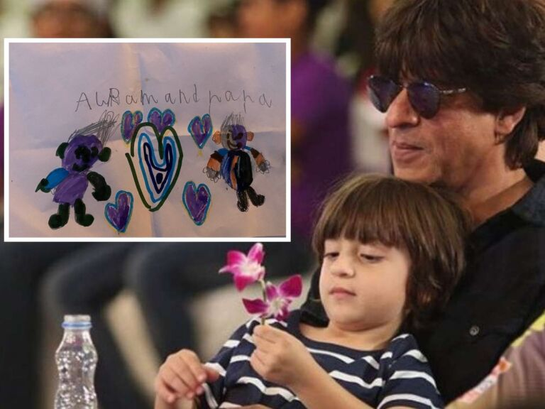 Shahrukh Khan's Son Abram Gives A Big Lesson To King Khan By Making Sketch