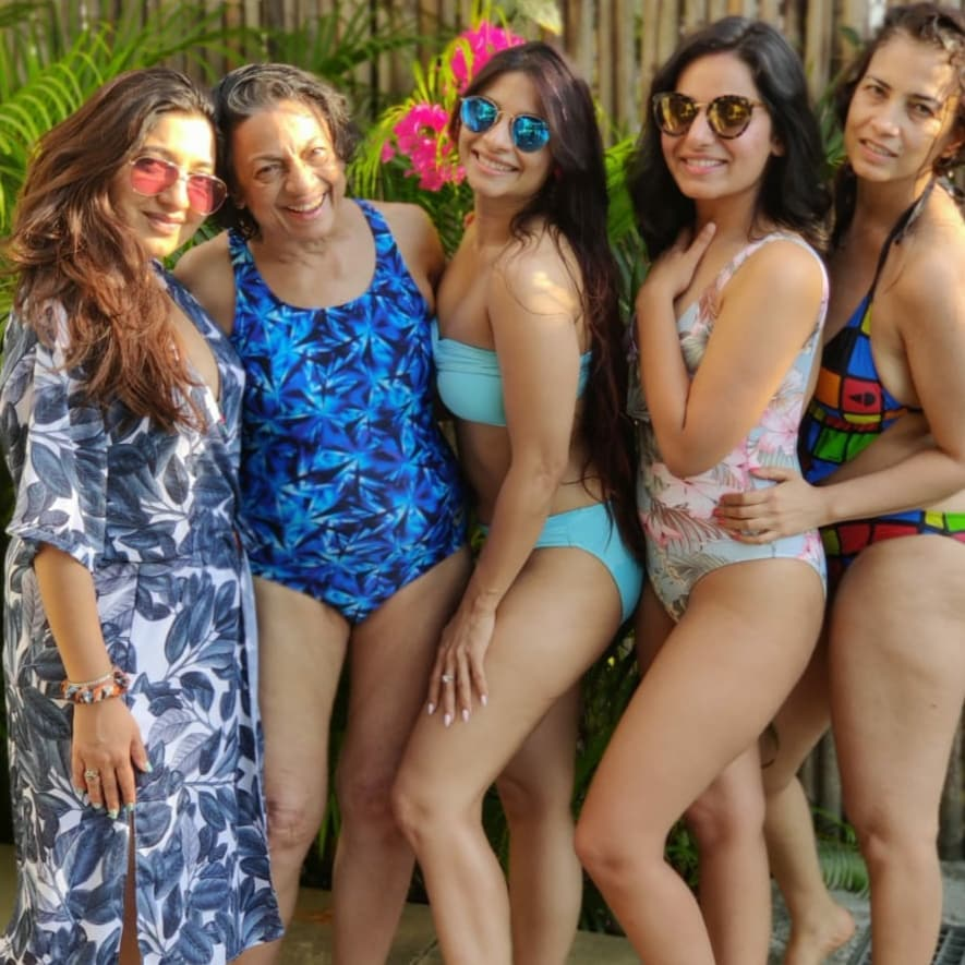 Tanuja in swimsuit