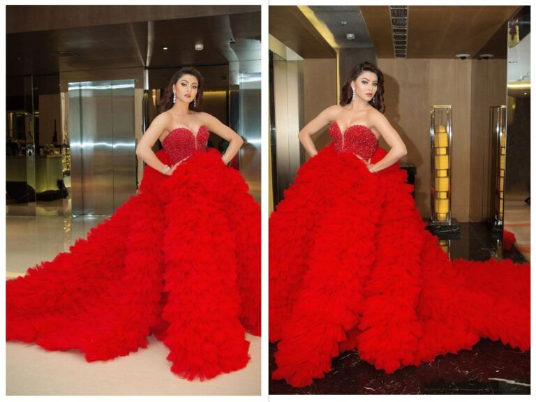 Filmfare Awards: Urvashi Rautela Sits On 4 Chairs After Wearing This Red Gown